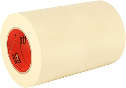3M General Use 201+ Masking Tape - 0.25 in. (W) x 180 ft. (L) Crepe Masking Tape Roll with Solvent Free Rubber Adhesive