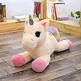 AYQX Peluche Bambole di Peluche per Bambini Kawaii Cartoon Rainbow Unicorn Giocattoli di Peluche Bambini Giocattoli Presenti Regalo per Bambini Regalo di Compleanno 60cm Rosa