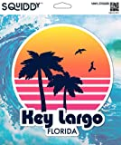 Squiddy Key Largo Florida - Vinyl Sticker Decal for Phone, Laptop, Water Bottle (3' high)