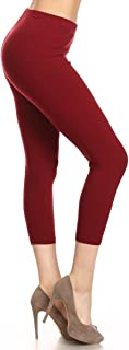 Leggings Depot Women's Premium Cotton Soft Capri Yoga Pants NCL27