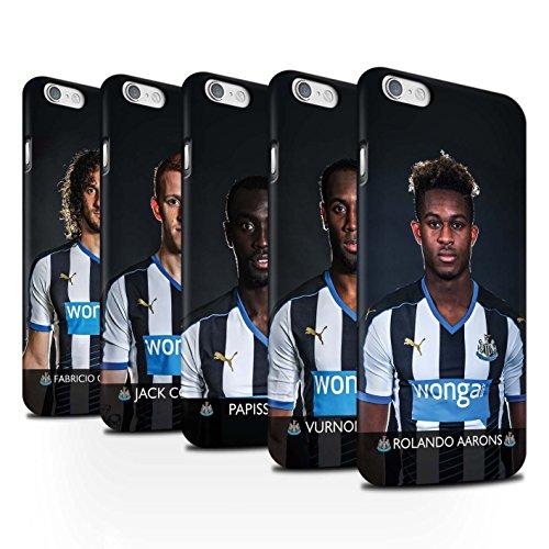 Ufficiale Newcastle United FC Custodia/Cover Duro Matte Snap On Caso/Cassa per Apple iPhone 6 stampata con il disegno NUFC Calciatore 15/16 / 25pcs Confezione