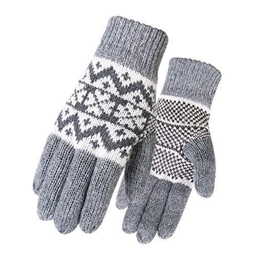 Guanti invernali in pelle calda da uomo, guanti in pile spesso, termici, antivento, a prova di neve, a prova di freddo, per sci, snowboard, equitazione, moto, trekking, campeggio