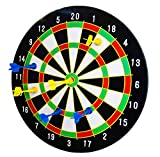 The Magic Toy Shop 16' Magnetic Dart Board Dartboard with 6 Darts Party Game Set Doink It