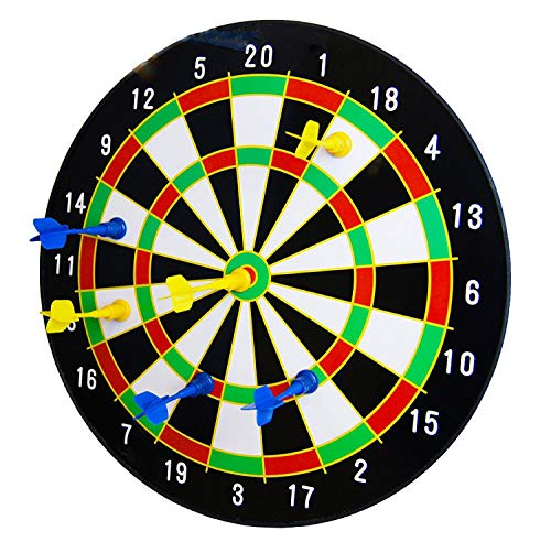 The Magic Toy Shop 16' Magnetic Dart Board Dartboard with 6...