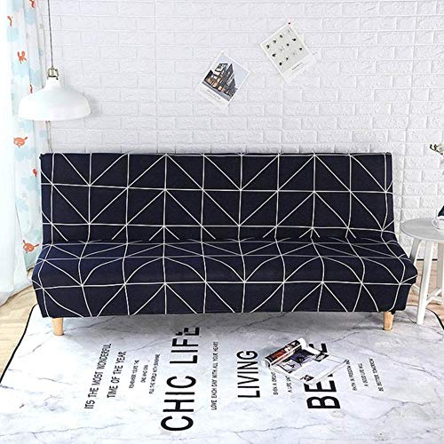 MODI Stretch Bed Sofa Cover Slipcovers No Armrest 3 Seater Living Room Non Slip,20201508,S 120-150cm