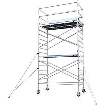 Andamio aluminio Torre PRO 135x250 - altura de trabajo 6.2 m: Amazon.es: Bricolaje y herramientas
