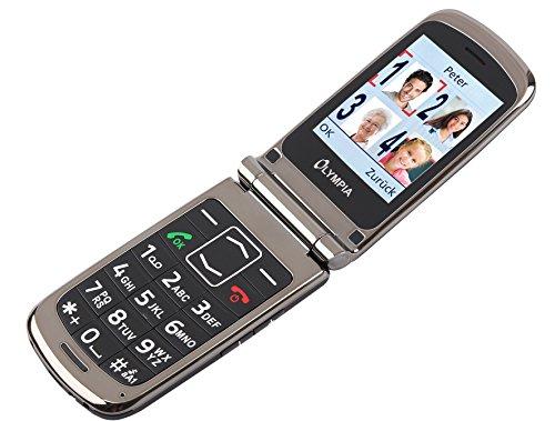 OLYMPIA Modell Style Plus Komfort Mobiltelefon Seniorenhandy mit Großtasten und Farb Display schwarz