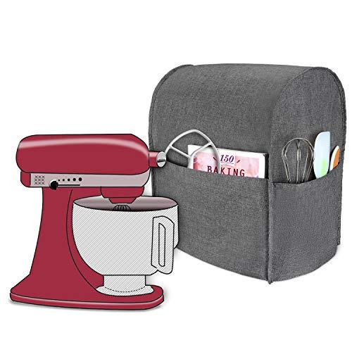 Luxja Abdeckhaube für KitchenAid Küchenmaschine, Anti-Staub Abdeckung für KitchenAid Küchenmaschine und Zubehör(passend für 4,3 Liter und alle 4,8 Liter KitchenAid Küchenmaschine), Grau