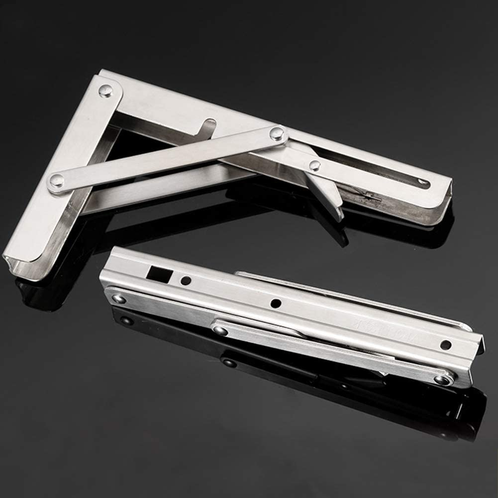 PENCIL2 Bracket 2pcs Table Bearing Shelf Triangle Durable Stainless Steel Angle Home DIY Wall Mounted Folding Adjustable 12 Inches