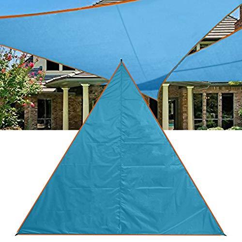 Sun Shade Sail 3X3 M Resistente a los Rayos UV Carpa Impermeable Toldo para Acampar Toldo al Aire Libre Sun Shade Canopy Shelter(Azul)