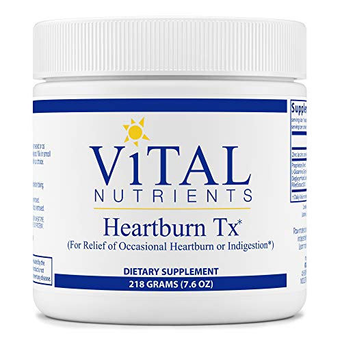 Vital Nutrients - Heartburn Tx - for Relief of Occasional Heartburn and Indigestion - Vegetarian - 218 Grams