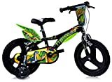 Dinosaurier Dino- Trex - Bicicleta infantil con ruedas de apoyo (16 pulgadas)