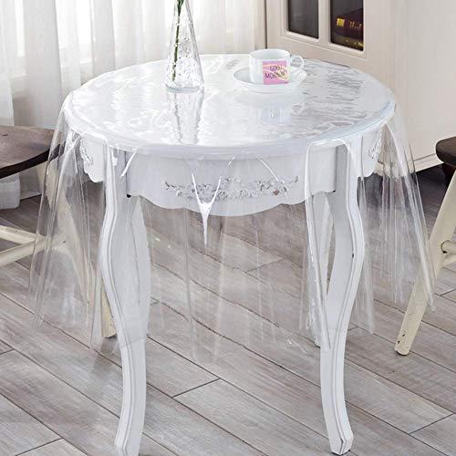 GPWDSN Runder Tischschoner aus klarem Kunststoff, wasserdichte Tischdecke. Auslaufsichere rutschfeste Tischdecke für das Büro im Freien. Couchtischauflage-0,23 mm Durchmesser: 100 cm