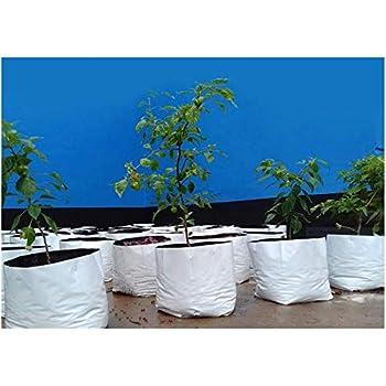 ROCHFERN Portable UV Treated Virgin Polyethylene Grow Bag (24x24x40 cm) - Set of 15