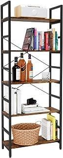 Bestier Bookshelf 5 Tier Bookcase Adjustable Shelves,...