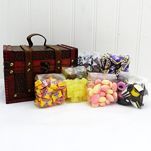 Traditional Retro Sweets Presented in a Unique Keepsake Box contains 6 x 200g bags - Ideas for Mum, Mothers Day, Birthday, Grandma, Grandad, Thank you, Teacher, Dad, him, her, Friend