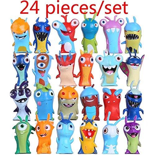 PsWzyze 24 Piezas/Set Cute Cartoon Slugterra PVC Figura de Acción Juguetes Juguetes Regalo para Niños