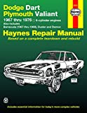 Dodge Dart & Plymouth Valiant covering Dodge Dart, Demon, Plymouth Valiant, Duster with 6 cylinder engines (67-76) & Barracuda (67-69) Haynes Repair Manual