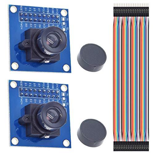 Youmile 2PCS OV7670 Kameramodul 640x480 0,3Mega 300KP VGA CMOS I2C Modul für Arduino ARM mit Dupont Kabel