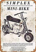 ティンサインのパーソナライズされたデザイン、シンプレックスミニバイク-ティンウォールサインレトロな鉄の絵ヴィンテージメタルプラーク装飾ポスターバーカフェストアホームヤード