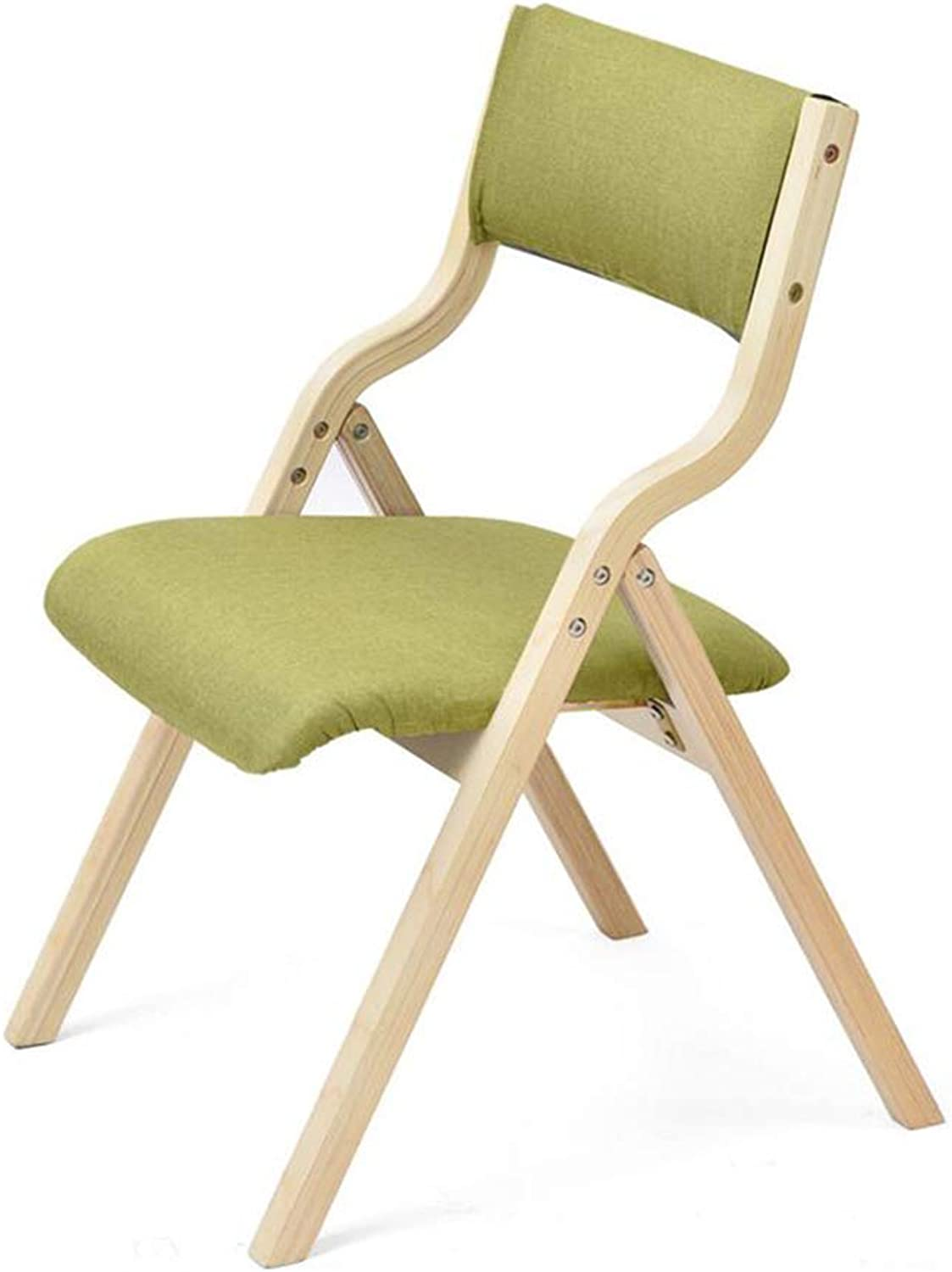 FENGFAN Wooden Folding Chair Dinning Chair Home Office Solid Hardwood Frame Foldable (color   C)