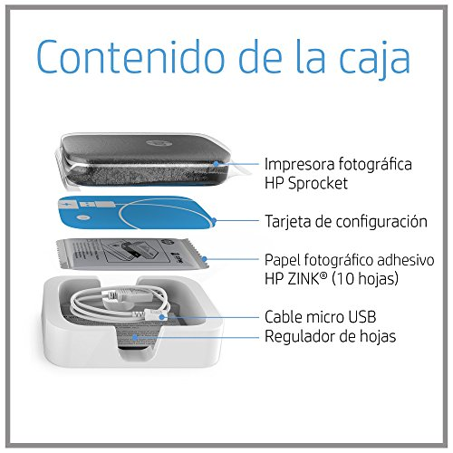 HP Sprocket - Impresora fotográfica portátil, color rojo + 3 packs ...