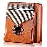 Byla Kalimba 21 Keys Play More Songs Solid Wood Mahogany Portable Thumb piano Finger piano Brown Mbira Calimba Marimba Musical Instruments for Kids, Adults and Beginners