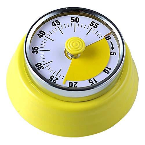 SUREH Temporizador de cocina sin batería, cuenta regresiva, magnético, temporizador visual de 60 minutos para niños y adultos, herramienta de gestión del tiempo para la enseñanza