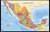 Trends International Mexico Map Wall Poster 22.375' x 34'