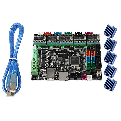 LERDBT 3D Printer Controllers MKS SGen-L 32-Bit ARM Cortex-M3 Open Source 3D Printer Mainboard 5*LV8729 Motor Driver Module For 3D Printer (Color : Black, Size : One size)