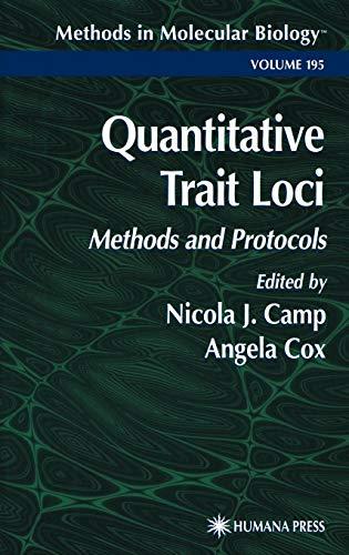 Quantitative Trait Loci: Methods and Protocols (Methods in Molecular Biology, Band 195)