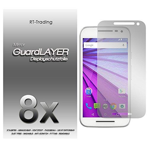 3x Motorola Moto G (3. Generation) - Spiegelfolie Bildschirm Schutzfolie Folie Schutz Mirror Screen Protector Bildschirmfolie - RT-Trading
