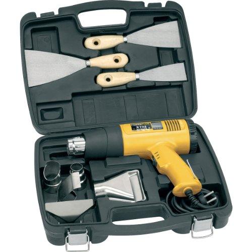 Heißluftgerät digitale Anzeige; Heißluftpistole + 5 Düsen+ 3 Schaber / 75-400°C oder 85-600°C im Koffer 1800W