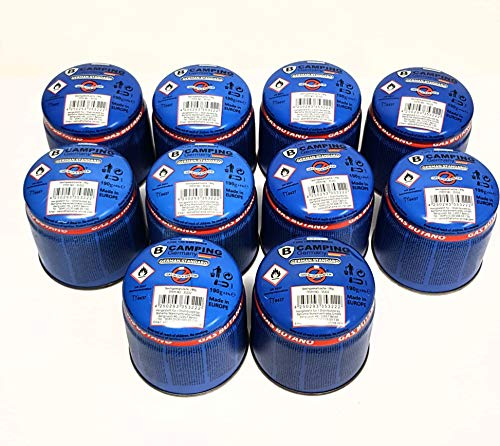 Gaskartuschen 190g Stechkartuschen Kartuschen Butan Gas Campingkocher x 10
