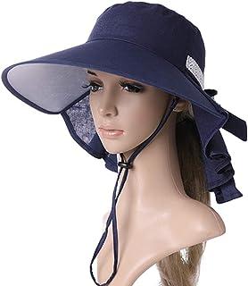 GYZ Gorra de protección solar - señoras de la moda sombrero para el sol damas simples protección UV al aire libre borde grande del sombrero sombrero para el sol manto de protección del sol cola de cab