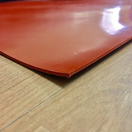 """Silicone - Commercial Grade Red/Orange - 55A - Rubber Sheets & Rubber Rolls - 1/8"""" Thick x 12"""" Width x 36"""" Length"""
