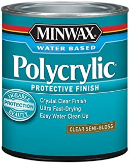 Minwax 64444 1 Quart Semi Gloss Polycrylic Protective Finishes