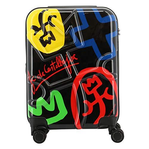[カステルバジャック] スーツケース 機内持ち込み 35(40)L 48cm 3.2kg クラーキャリー 345169 CASTELBAJAC ハード ファスナー 拡張 TSAロック搭載 キャリーバッグ キャリーケース 静音キャスター 【98】ブラック -