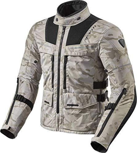 REV'IT! Motorradjacke mit Protektoren Motorrad Jacke Offtrack Textiljacke Sand/schwarz XL, Herren, Enduro/Adventure, Ganzjährig, Polyester, beige