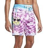 Squarepants Men's 9' Spongebob Swim Trunks - (Purple/Blue) -...