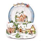 WeRChristmas - Bola de Nieve con música e iluminación (20 cm), diseño de Escena navideña
