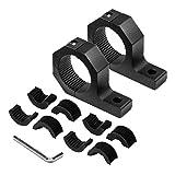 Support de montage, DEDC Toit Barre de fixation Support pour cage à rouleau Rouleau Support 3,8 cm 5,1 cm Pince à tube toit...