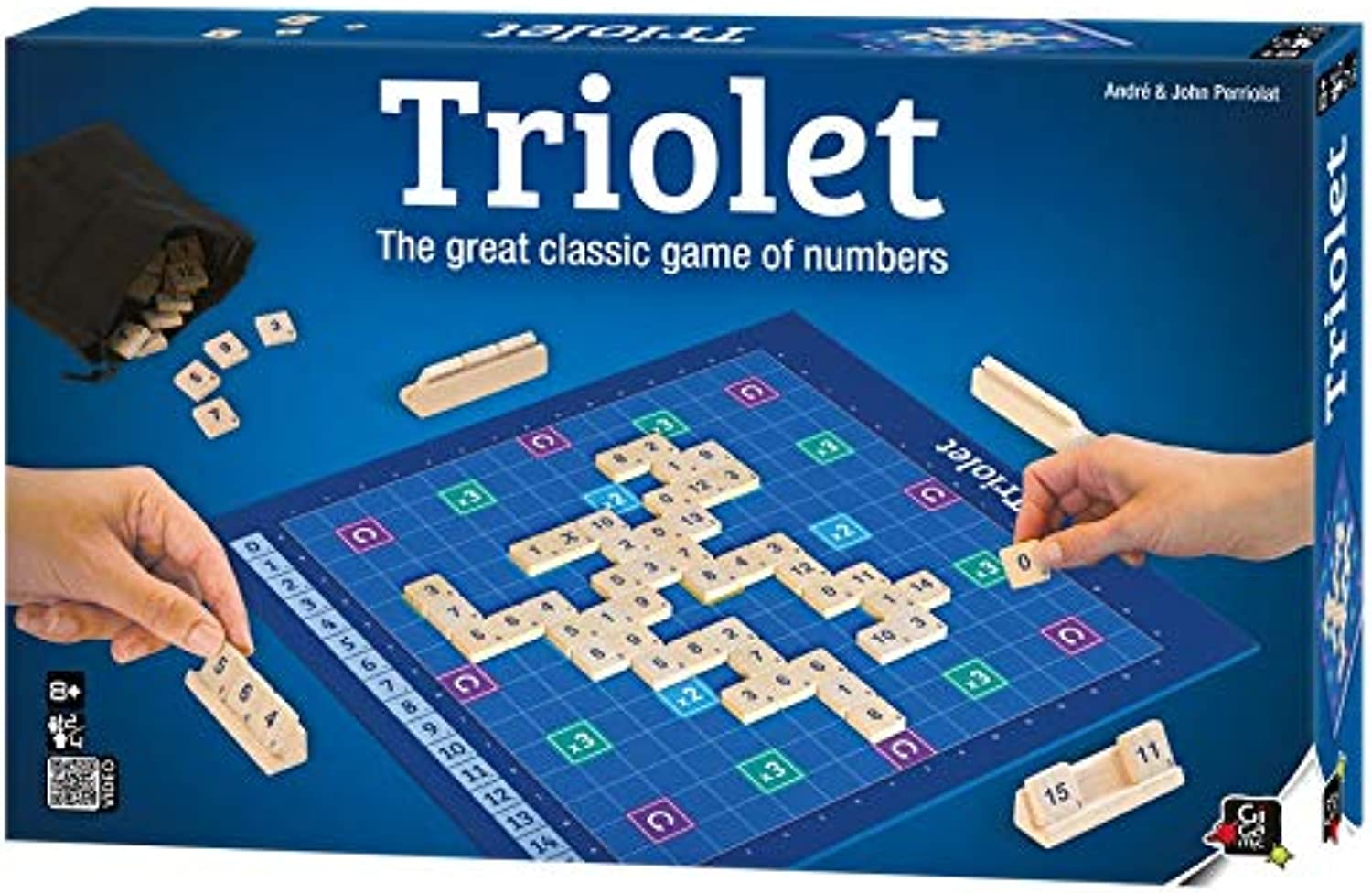 Gigamic  Triolet  Board Game, Brain Game, Woodenpiece