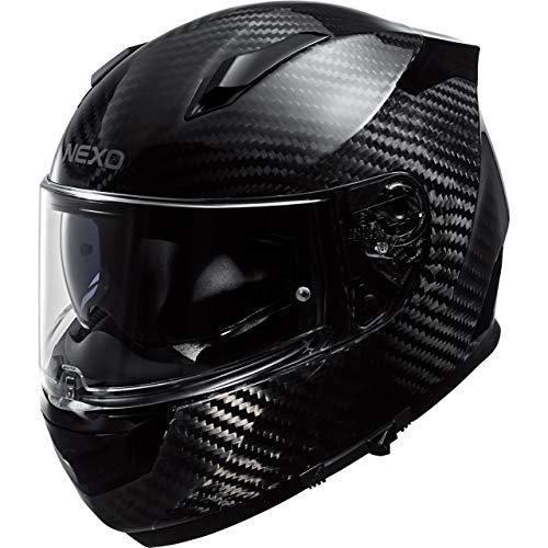 Nexo Integralhelm Motorradhelm Helm Motorrad Mopedhelm Integralhelm Carbon Sport III schwarz XXL, Unisex, Sportler, Ganzjährig