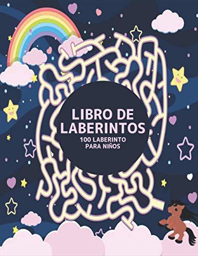 Libro de Laberintos 100 Laberinto para Niños: Laberinto Rompecabezas Libro de Actividades para Niños y Niñas divertido y fácil 100 laberintos desafiantes para todas las edades
