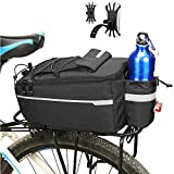 ZIMFANQI Bicycle Rack Rear Carrier Bag 10L Bike Trunk Bag Water Resistant Bike Rear Seat Cargo Bag Cycling Luggage Bag with Silicone Phone Holder