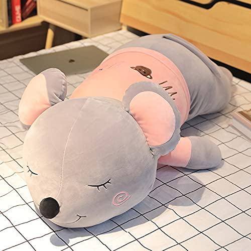 Dehcye 70-90-110cm Funny Mouse Plush Toy Soft Cartoon Animal Long Rat Stuffed Doll Sofa Nap Sleep Pillow Cushion Gift for Girls Kid 90-100cm Sleep