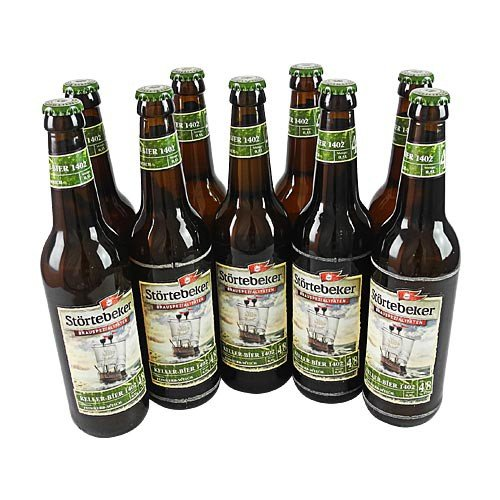 Störtebeker BIO Keller Bier 1402 (9 Flaschen à 0,5 l / 4,8% vol.)