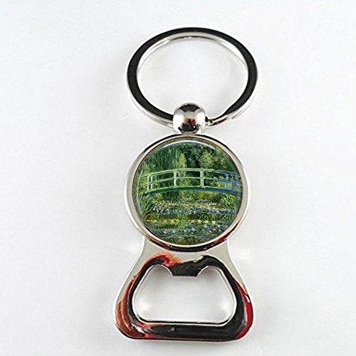 qws Japanische Brücke Claude Monet – Monet Flaschenöffner – klassischer Kunstschmuck – Impressionismus-Kunstschmuck – französischer Impressionist