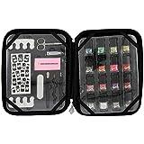 Gloss - caja de maquillaje, caja de regalo para mujeres - Set de maquillaje - SHOPA Croco Negro Belleza - 26 piezas